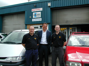 Magdrill UK Ltd's Bob & Gary Johnson with Martin Durr the MD of BDS Maschinen GmbH.